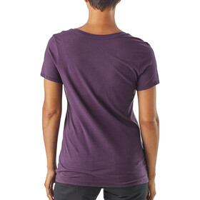 Patagonia Live Simply Sleeping Out Organic V-Neck T-Shirt Women Piton Purple